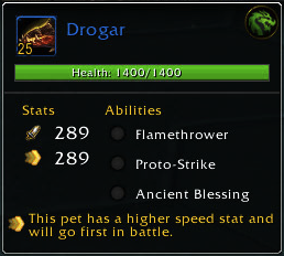 Drogar. Bonafide, 100% Flame-Breathing Dragon.