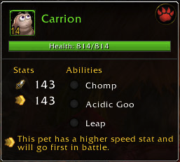 Meet Carrion. He enjoys long walks and feasting on corpses.