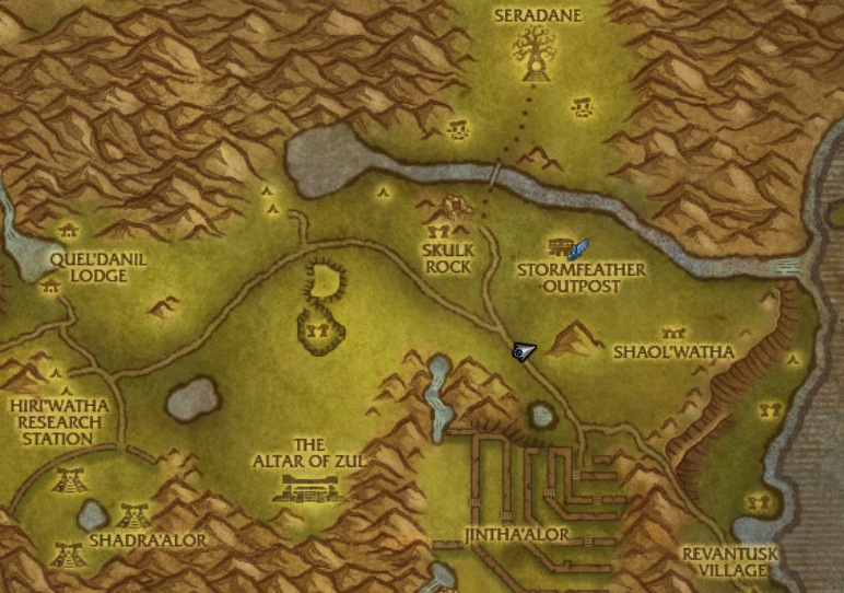 Map of Hinterlands trainer