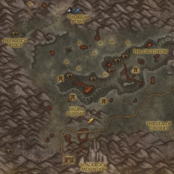 Searing Gorge tamer location